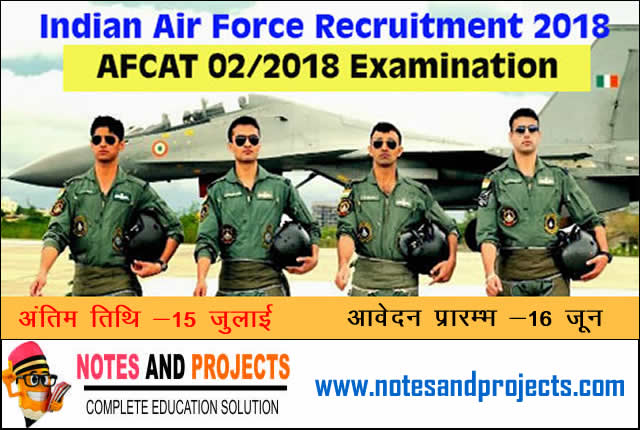 Indian Airforce AFCAT 02/2018
