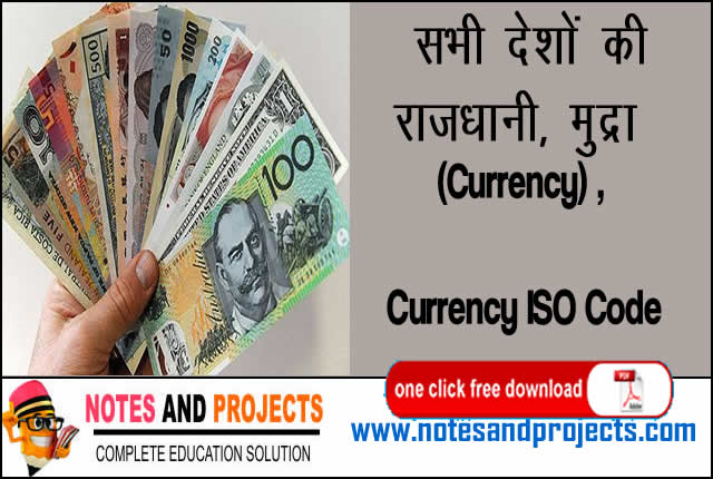 all country currency name list pdf